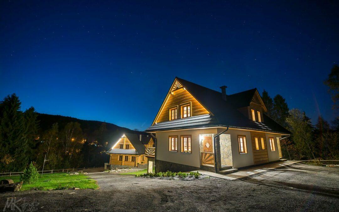 Zdjęcia wnętrz domki Smagula Korbielów – fotograf Żywiec Bielsko